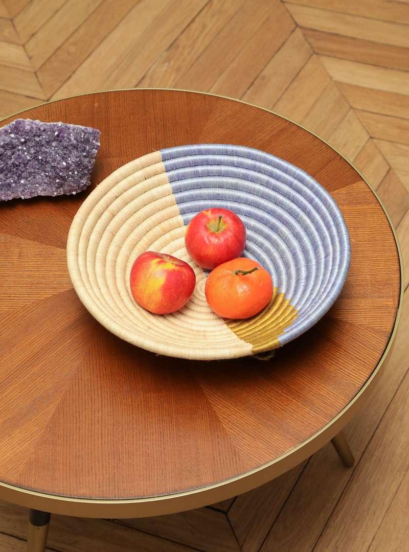 Handwoven Decorative Olive Form Plateau