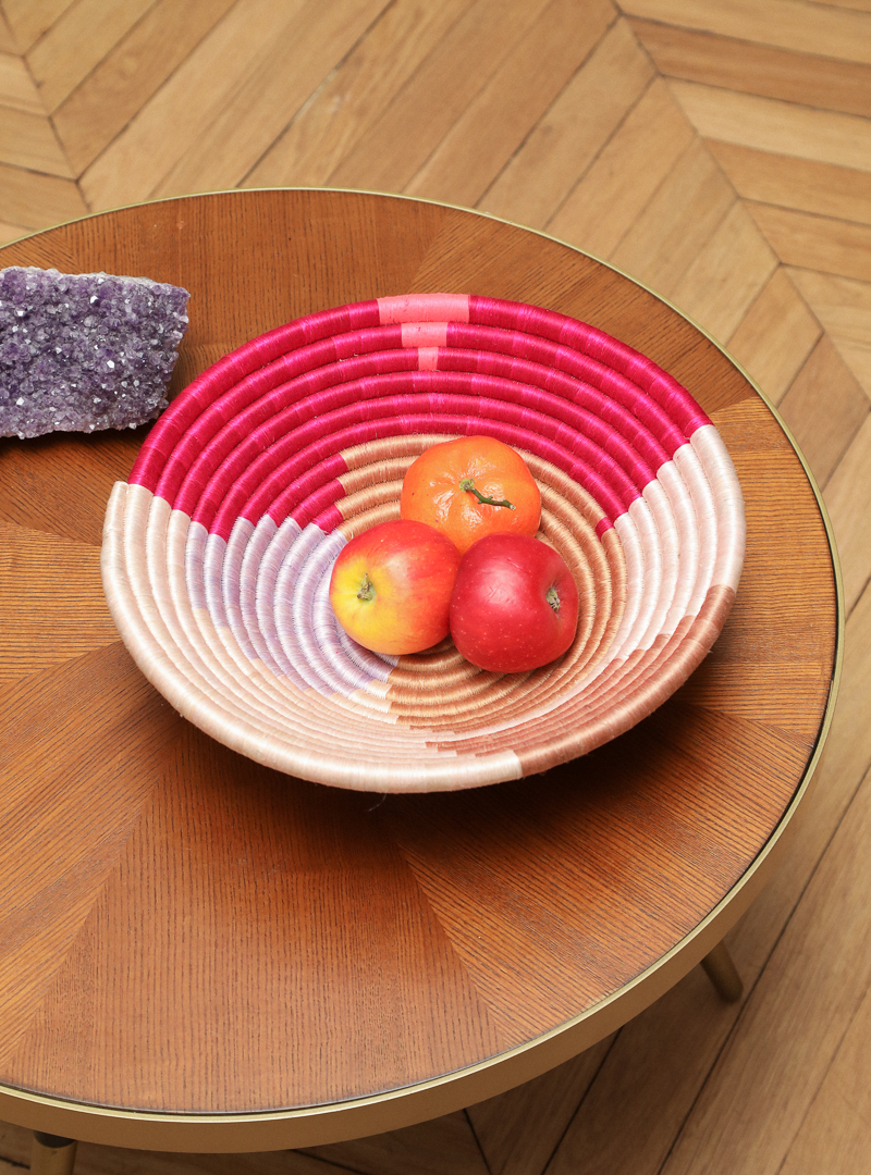 Handwoven Decorative Mauve Form Plateau