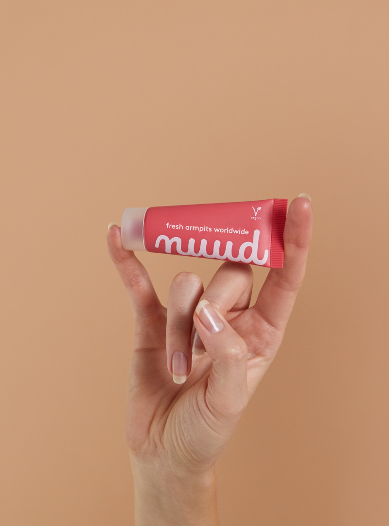 Woman Hands Holding Cosmetic Nuud Sanna Conscious Concept