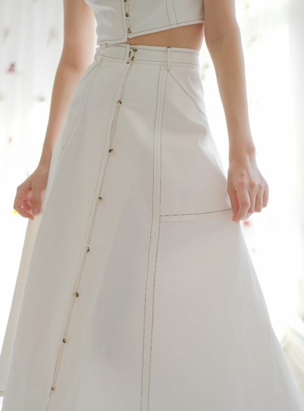 jupe blanche ohsevendays sanna conscious concept