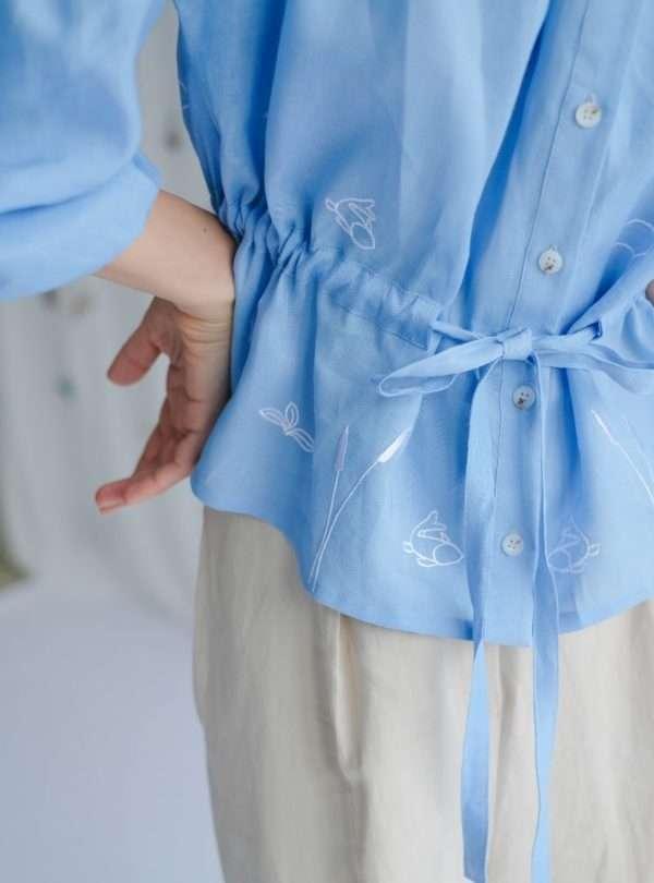 blouse bleue ohsevendays sanna conscious concept