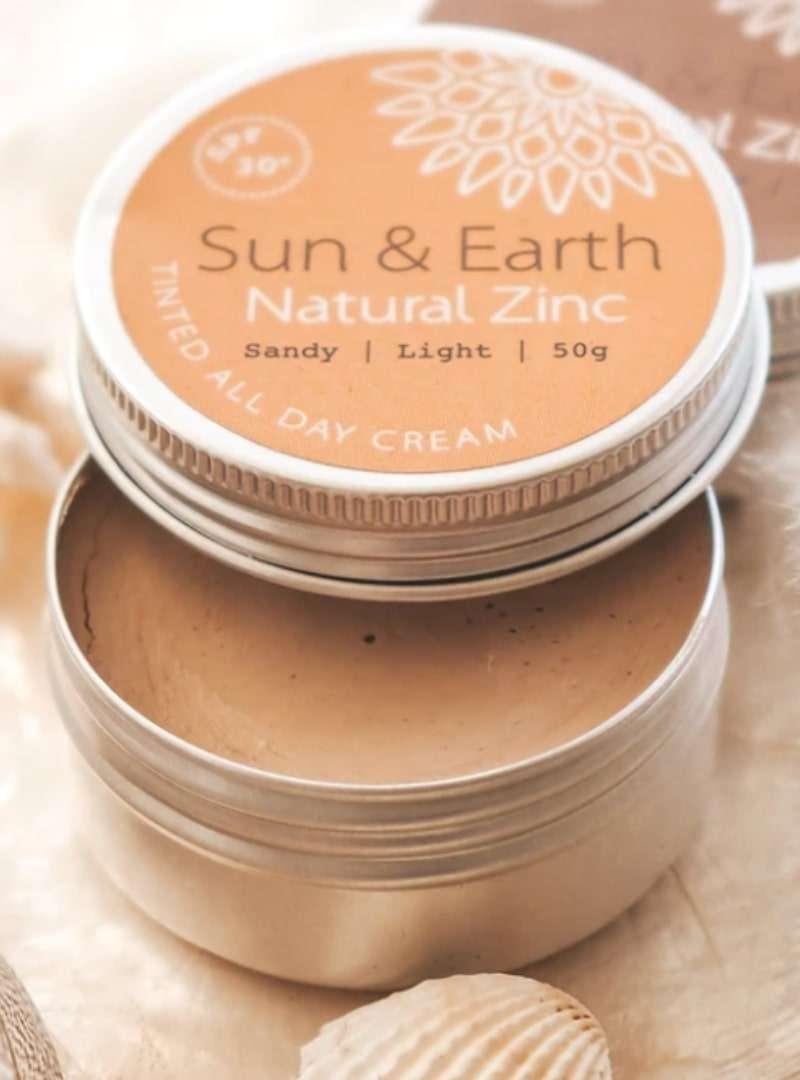 tinted all day cream sun & earth sanna conscious concept