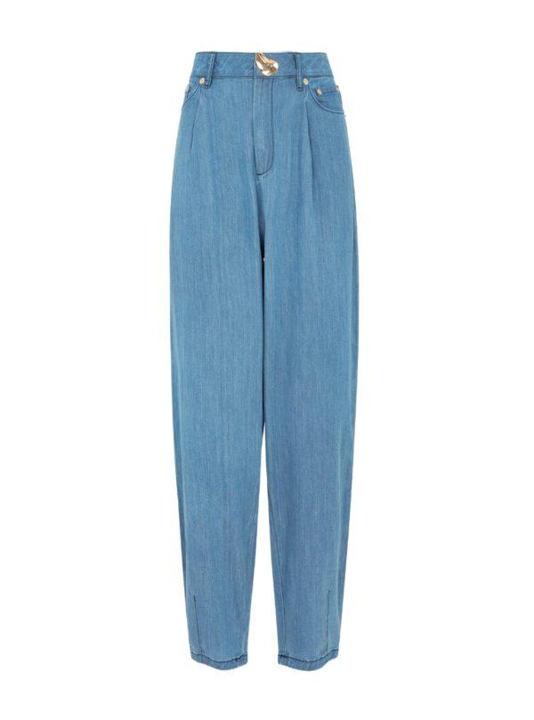 blue denim pants women's mother of pearl sanna conscious concept
