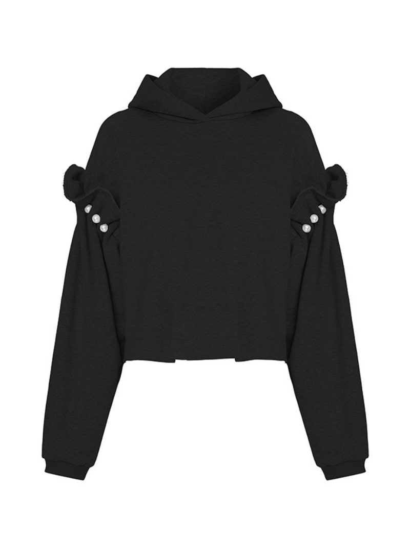 Black hoodie mother of pearl sanna conscious concept