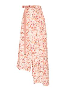 ruby floral skirt from mother of pearl sanna conscious concept