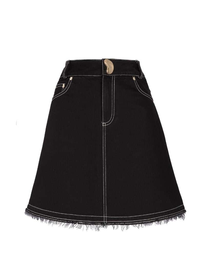 black women's denim skirt mother of pearl sanna conscious concept