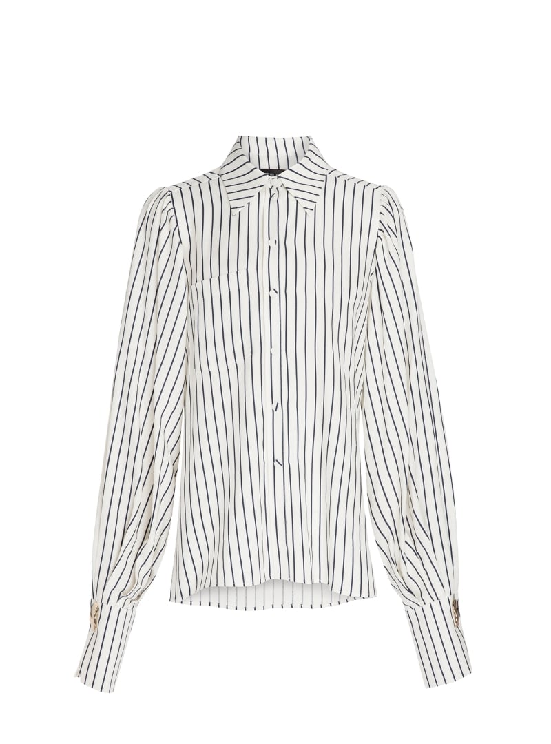 stripes women's shirt mother of pearl sanna conscious concept
