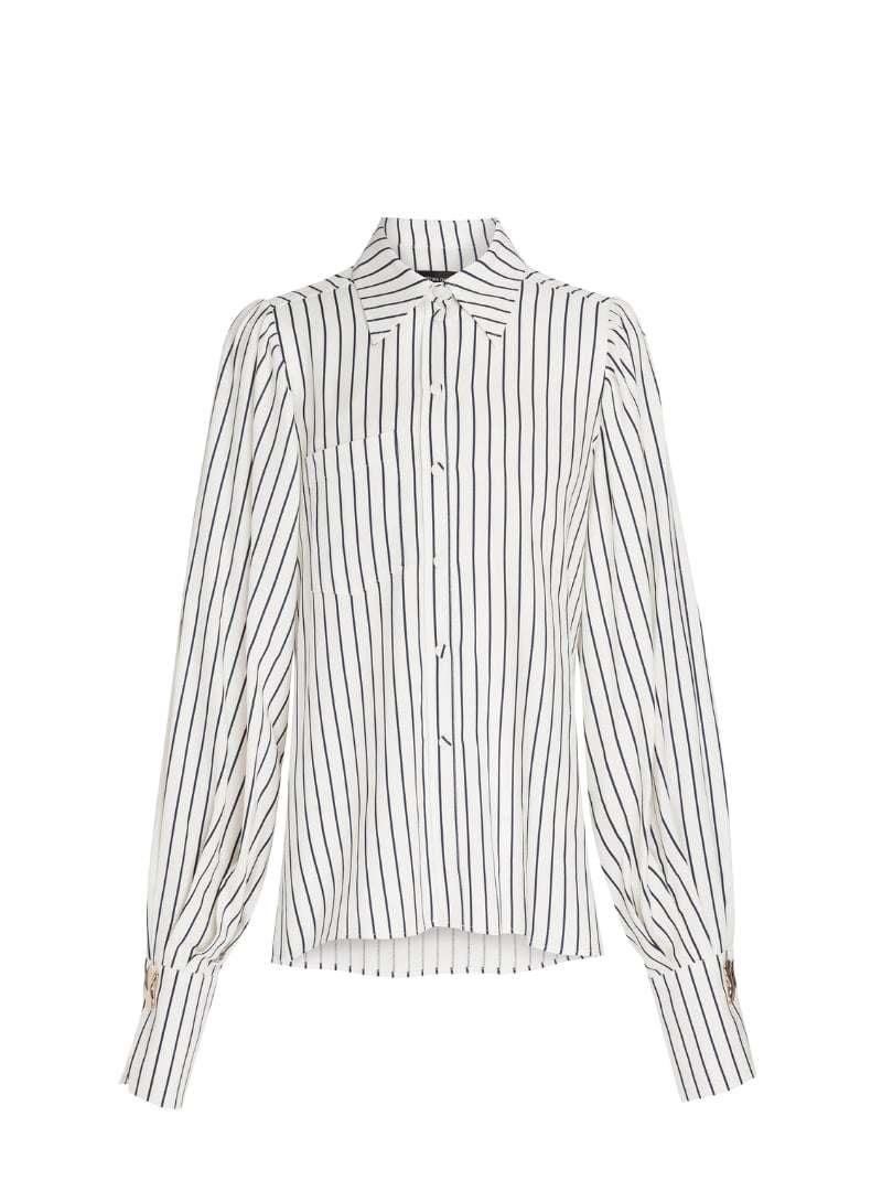 stripes women's shirt mother of pearl sanna conscious concept