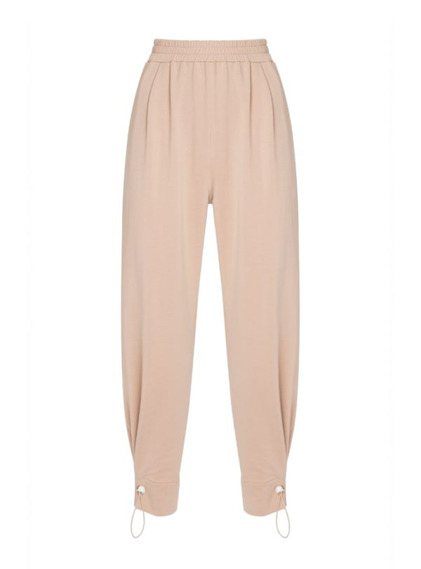 tan women's stone pants mother of pearl sanna conscious concept
