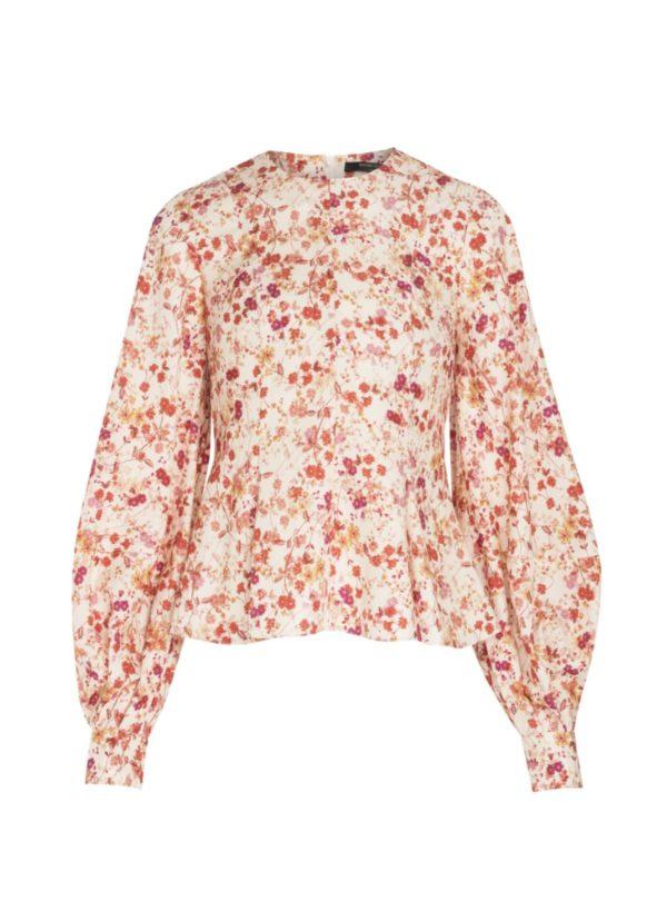 floral women's shirt mother of pearl sanna conscious concept