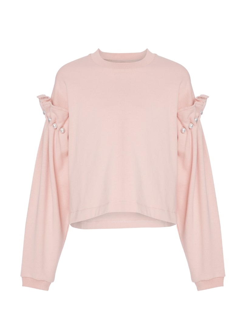 pink sweatshirt mother of pearl sanna conscious concept