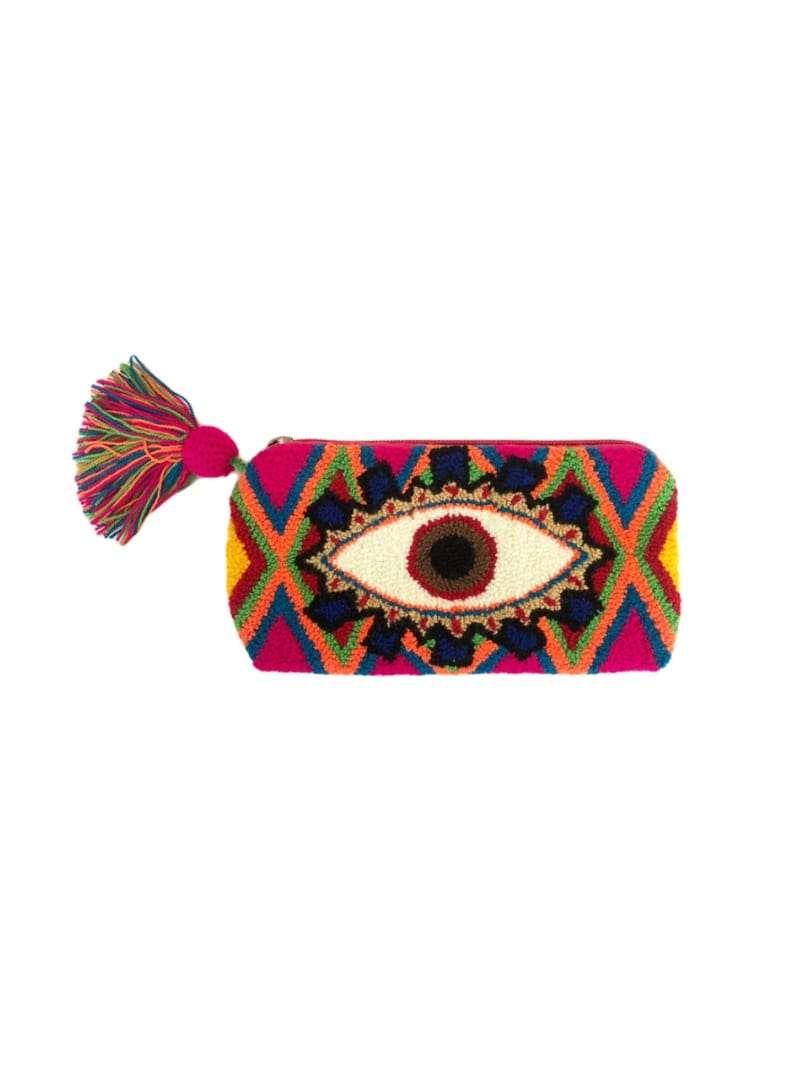 pochette avec un oeil mama tierra sanna conscious concept