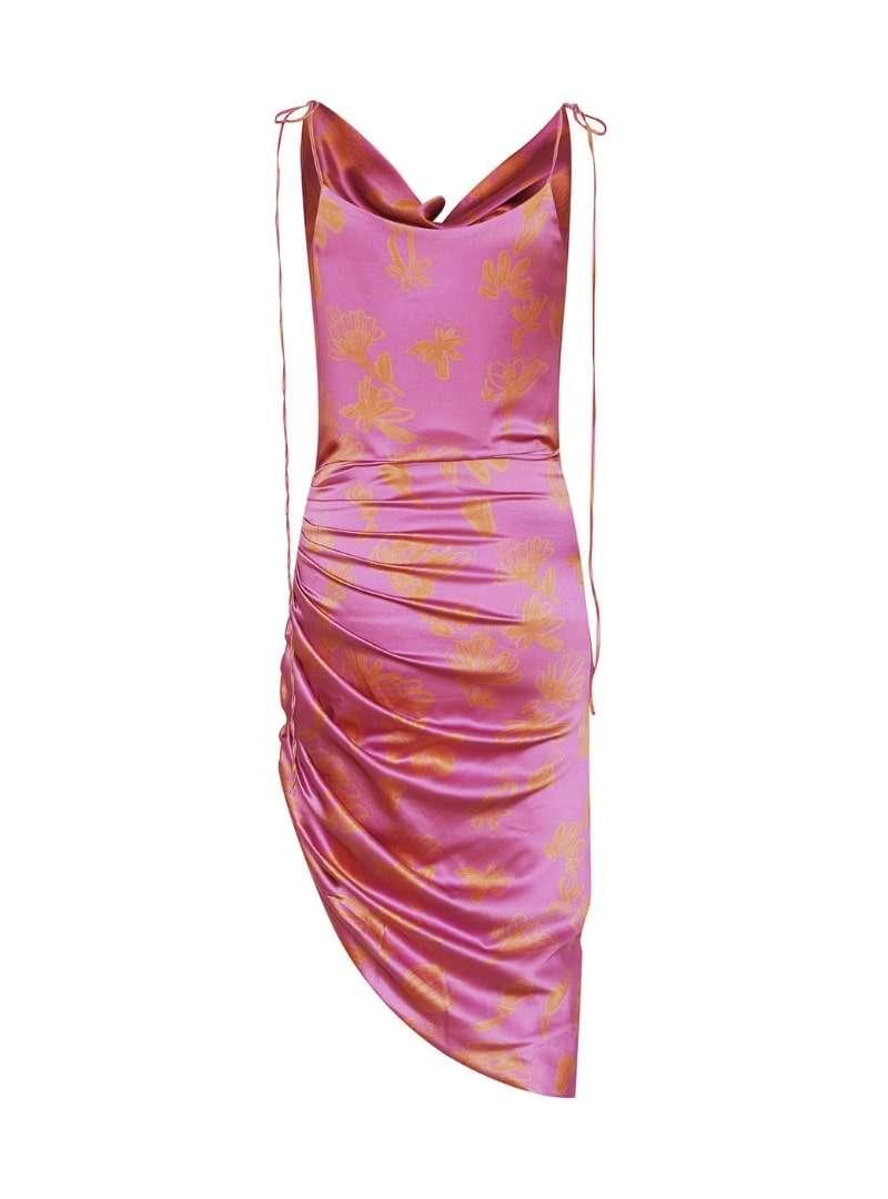 silk ruched dress bogdar sanna conscious concept