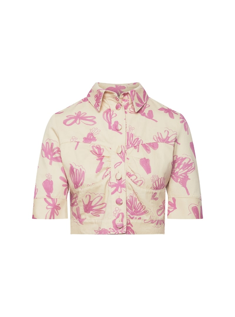 veste floral beige et rose bogdar sanna conscious concept