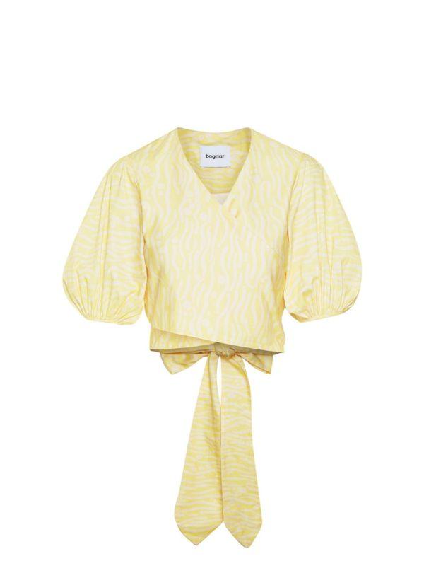 yellow wrap top bogdar sanna conscious concept