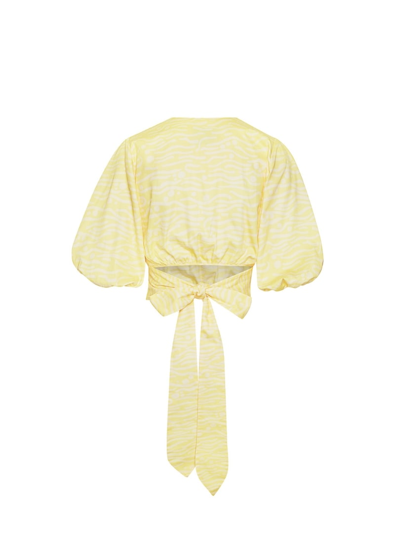 yellow wrap top bogdar sanna conscious concept