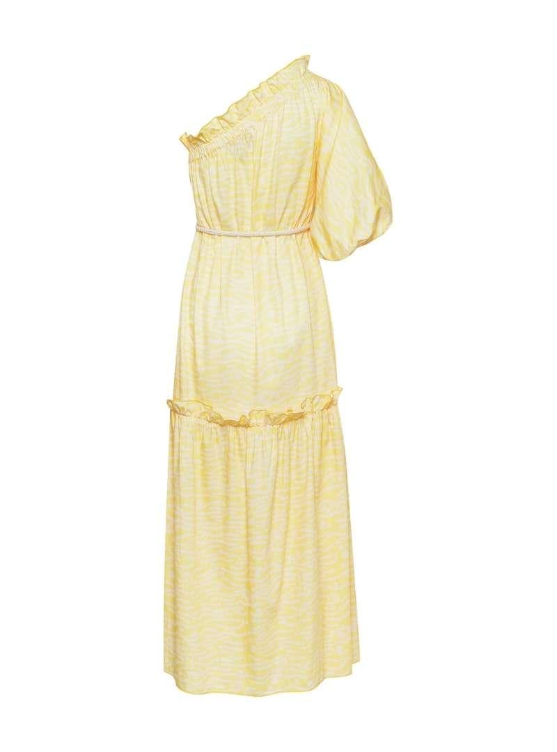 longue robe jaune asymétrique bogdar sanna conscious concept
