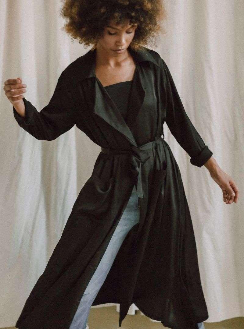 cossac sanna cosncious concept trench coat