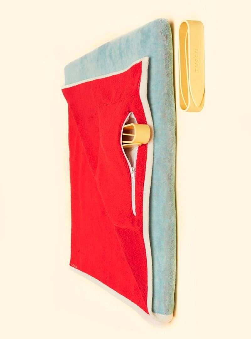beach towel with a pocket tucca sanna conscious concept