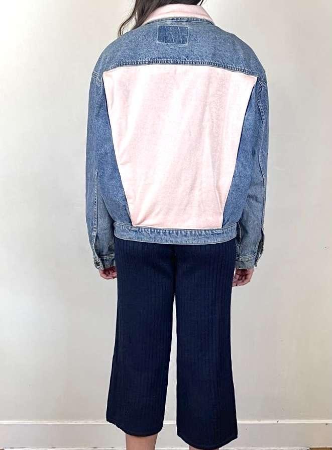 pink denim jacket anotherland sanna conscious concept