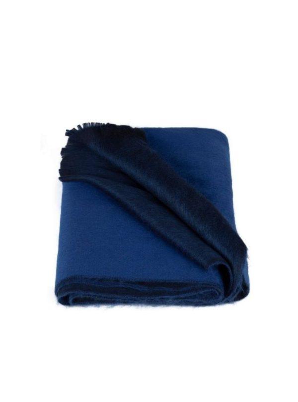 blue double woven scarf alpaca loca sanna conscious concept
