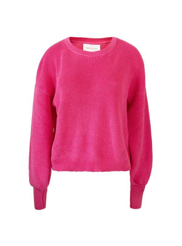 fuchsia sweater eleven six sanna conscious concept
