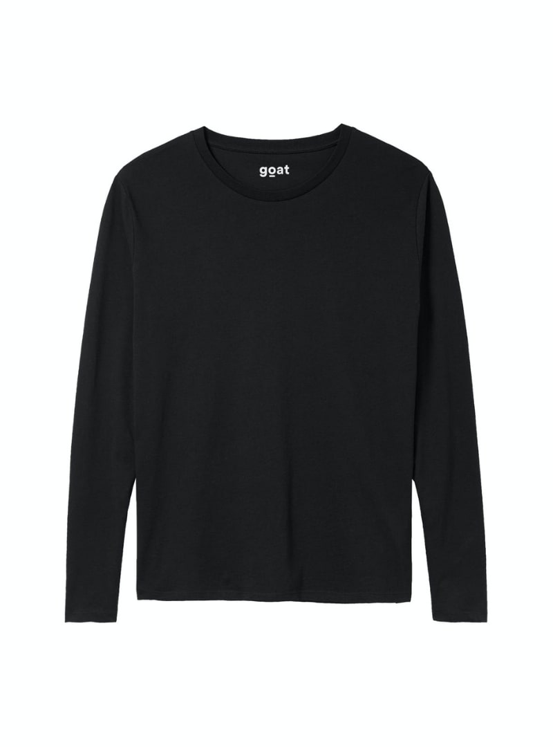 long sleeve black shirt goat sanna conscious concept