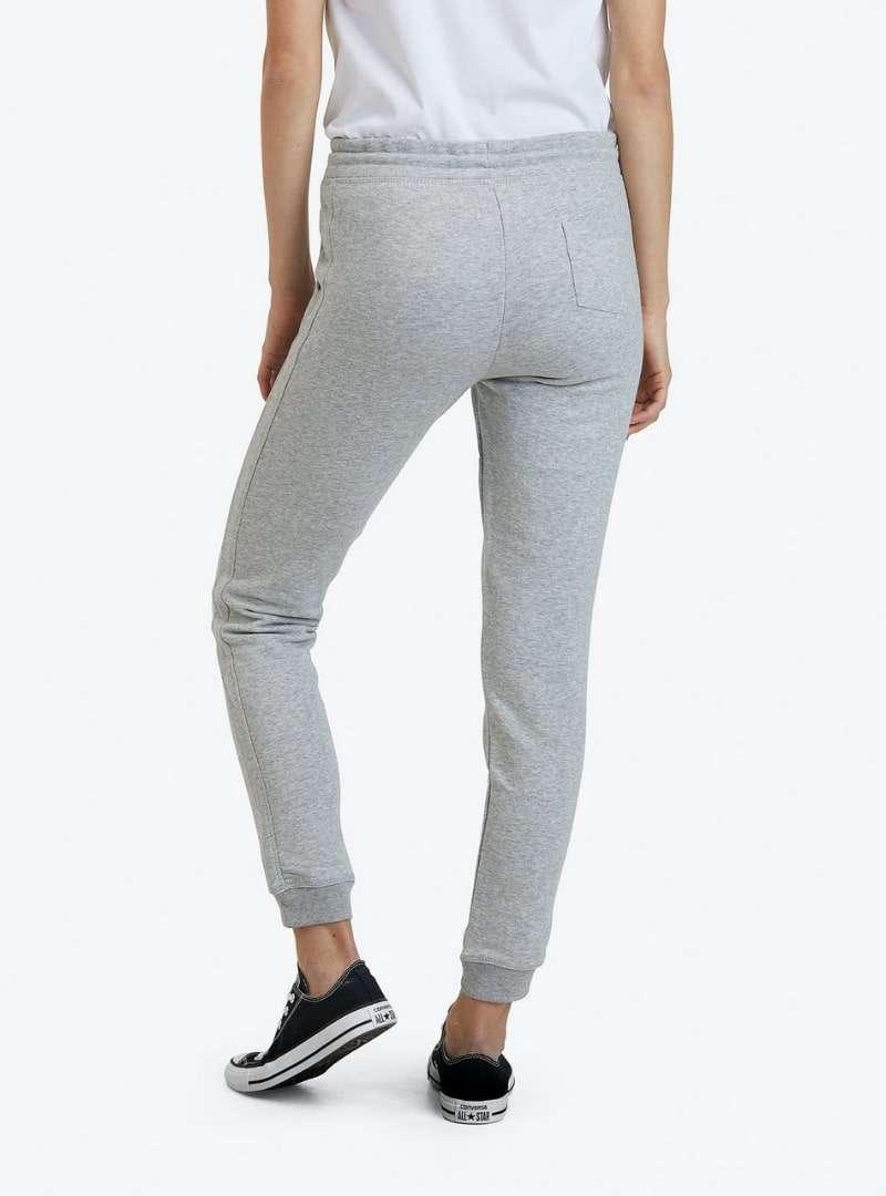 woman wearing grey sweatpants goat sanna conscious concept