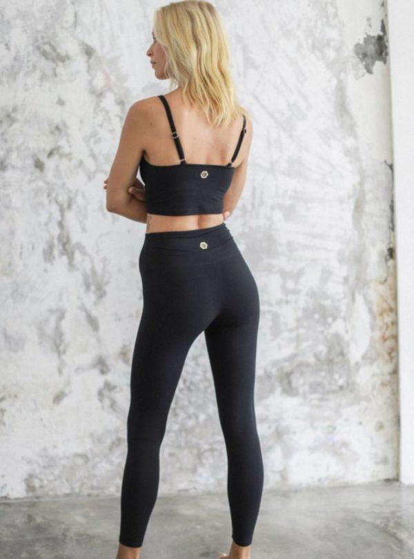 woman wearing black legging indigo luna sanna conscious concept