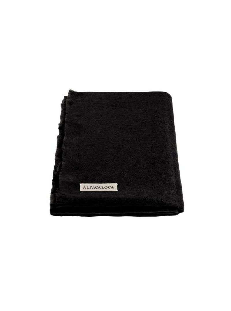 écharpe doublement tissée noire alpaca loca sanna conscious concept
