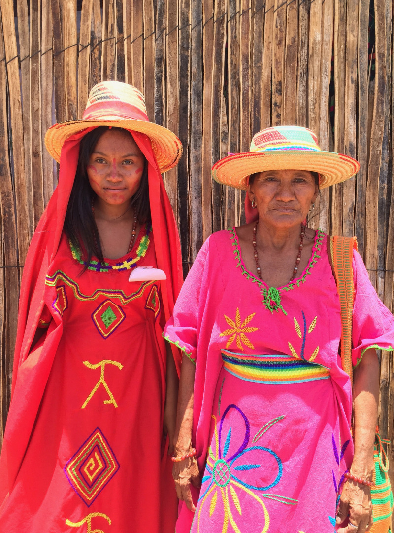 Woman Wearing Colorful Traditionnals Clothes Mama Tierra Sanna Conscious Concept