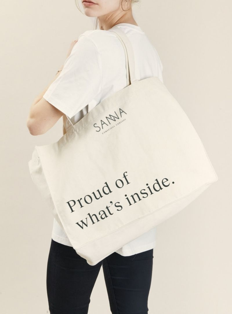 SANNA CONSCIOUS CONCEPT TOTE BAG ENGLISH