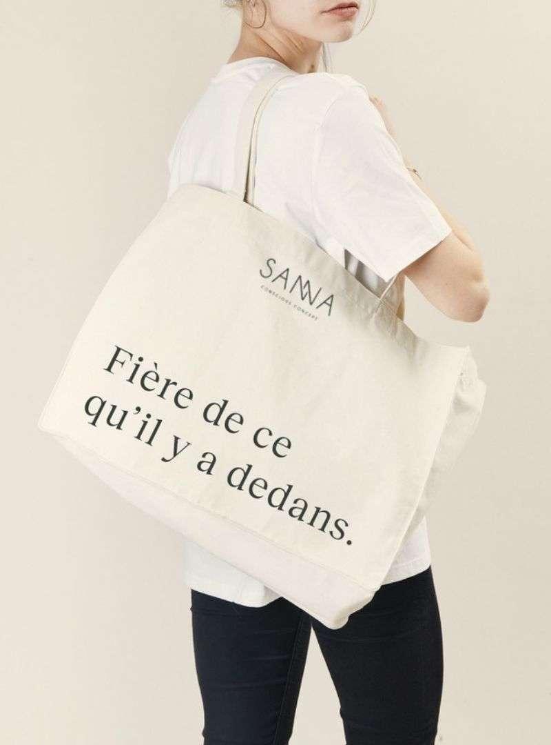 SANNA CONSCIOUS CONCEPT TOTE BAG FRENCH