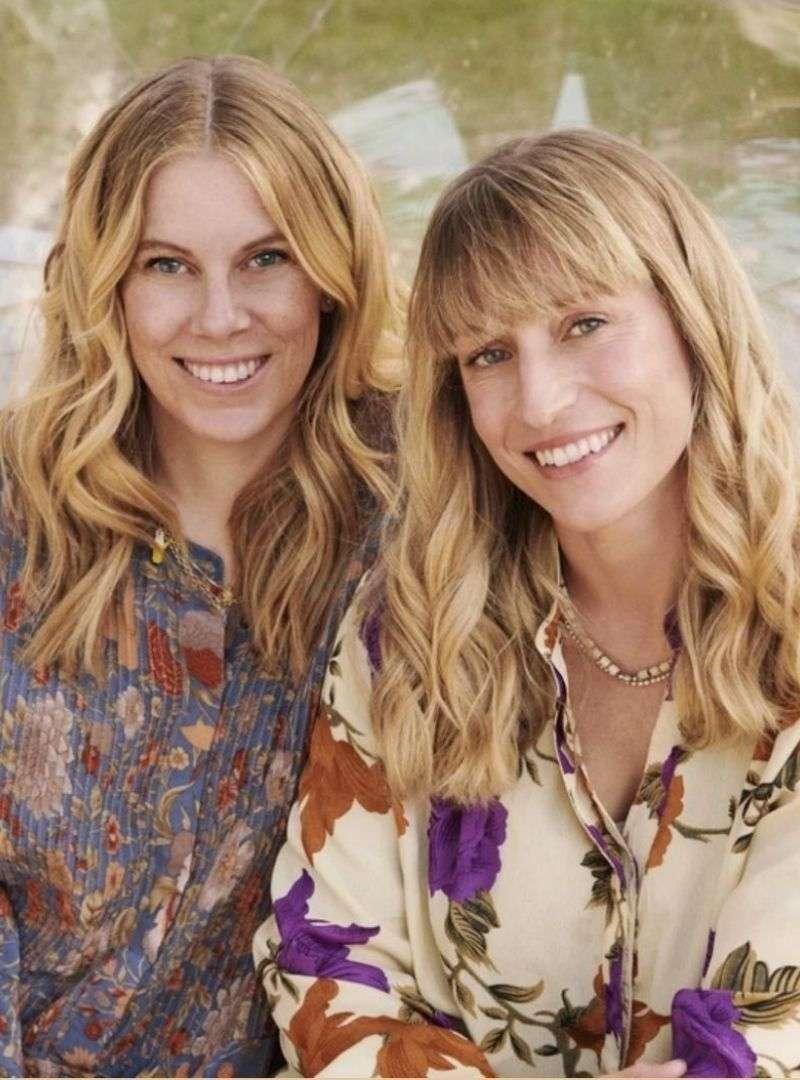 two women facing the camera and smiling sissel edelbo sanna conscious concept