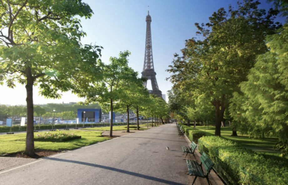 eiffel tower and a park archive paris green energy sanna conscious concept