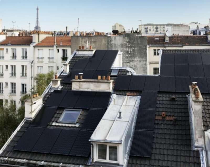 solar panels on the top of a building archive paris green energy sanna conscious concept