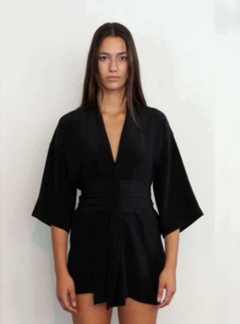 woman wearing a black kimono from envelope1976 sanna conscious concept