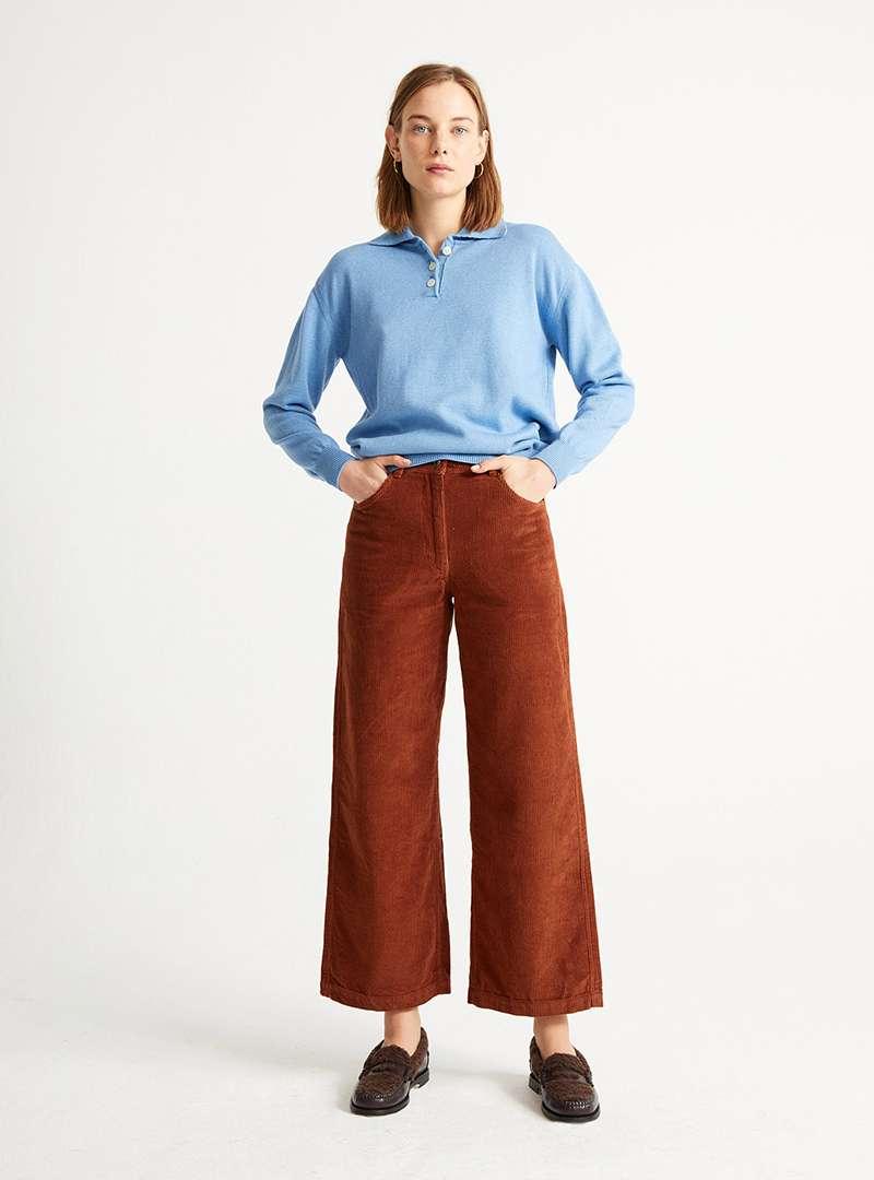 Holly Knitted V-Neck thinking mu sanna conscious concept