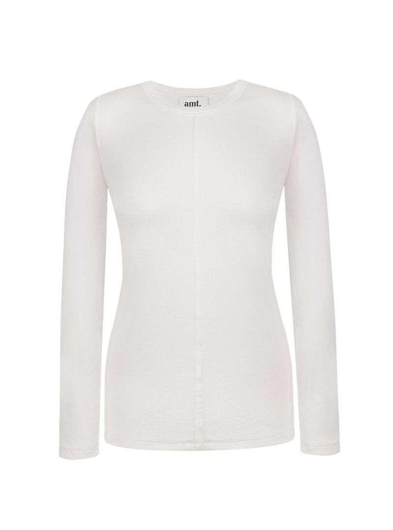 veia long sleeve in white amt sanna conscious concept