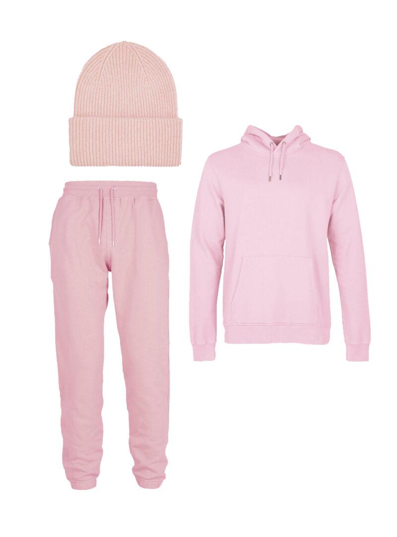 classic organic hoodie classic organic sweat merino wool hat in flamingo pink colorful standard sanna conscious concept